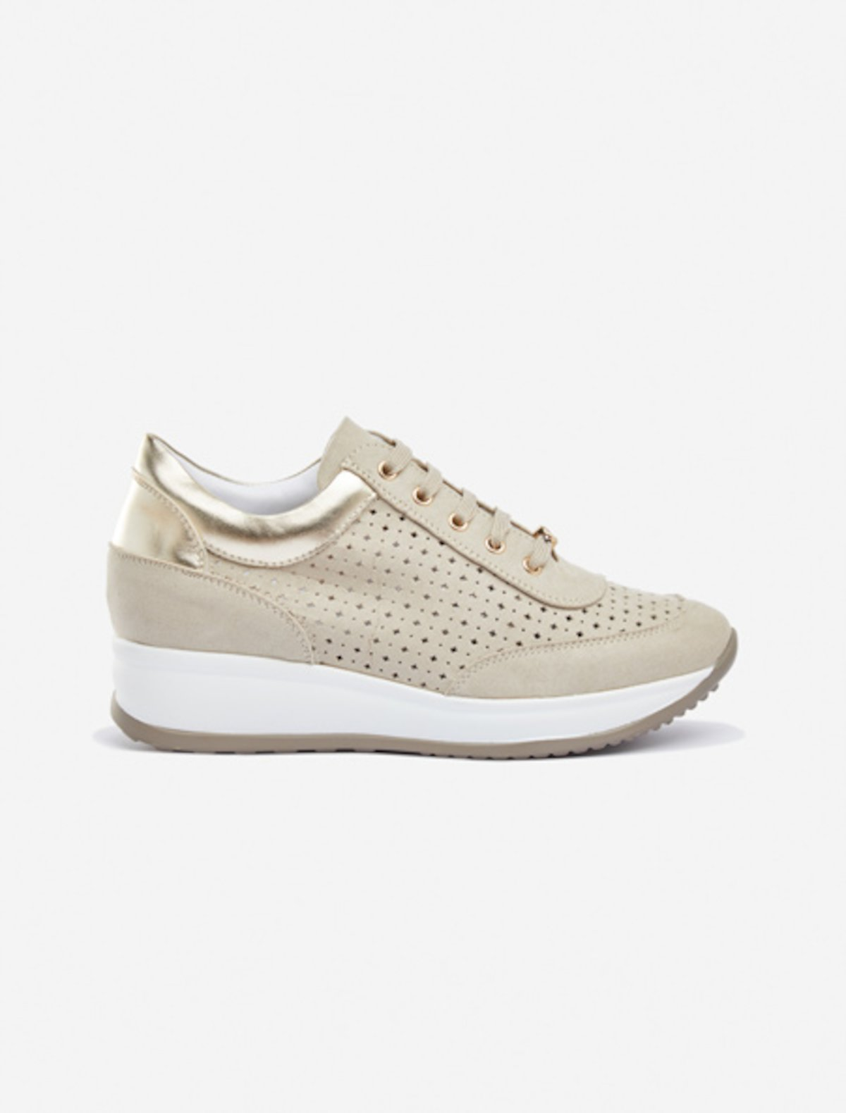 Sheila perforated sneakers - Doeskin