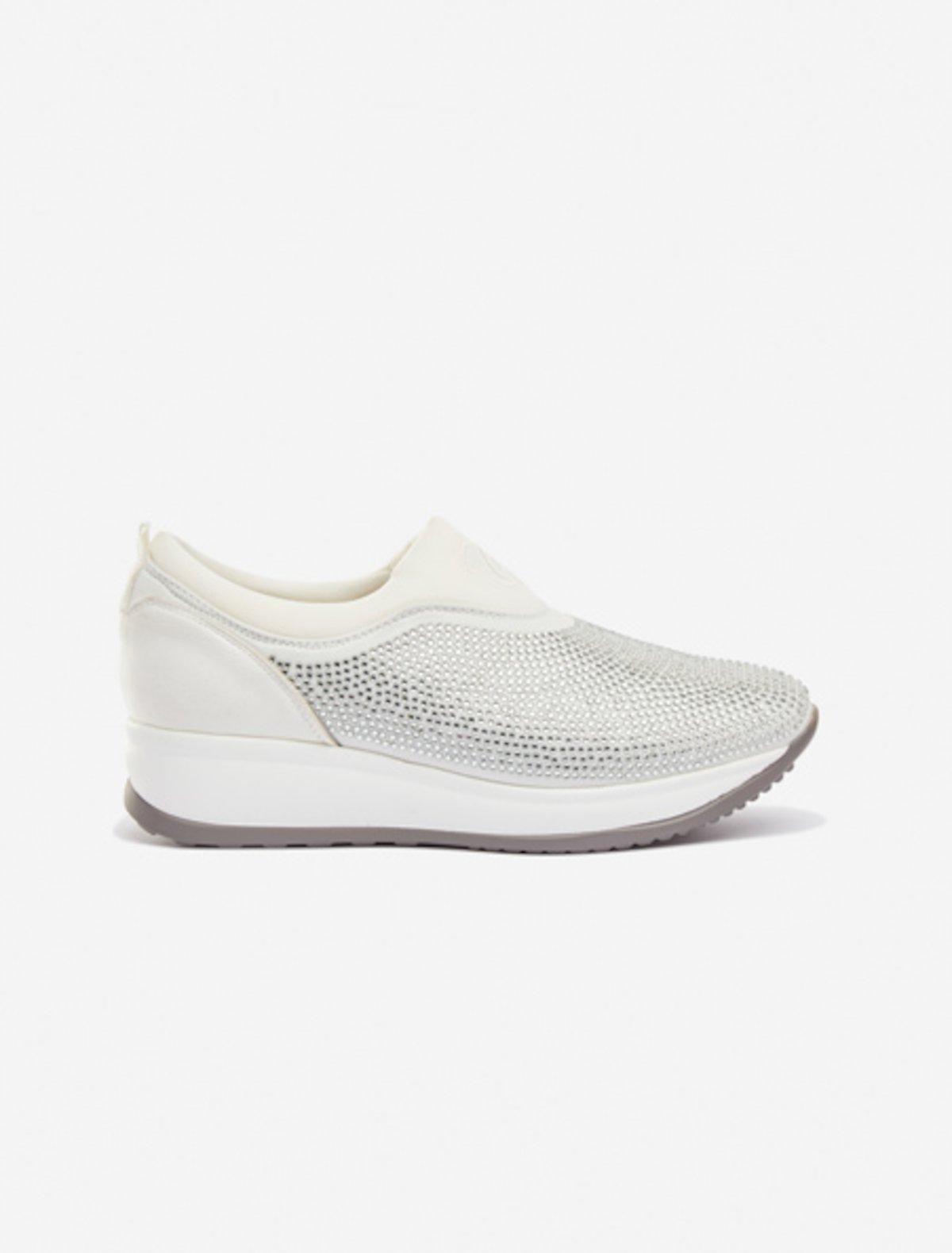 Sneakers Sila micro crystal - Bianco