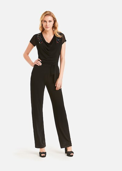 Taylor jumpsuit with rhinestones