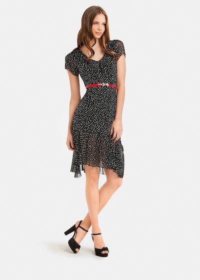 Alex dress with polka dots - Black\ White\ Pois