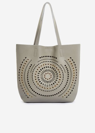 Bethany shopping bag of perforated faux-leather
