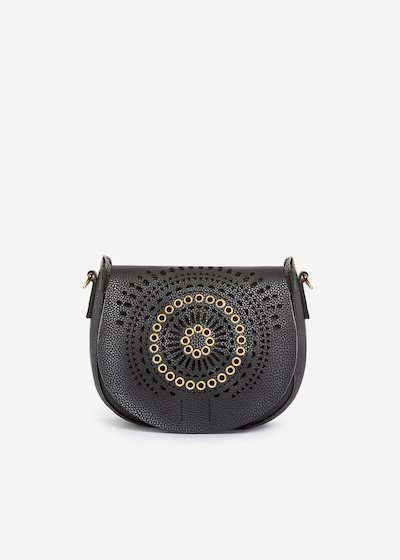 Benita shoulder bag with perforated fold