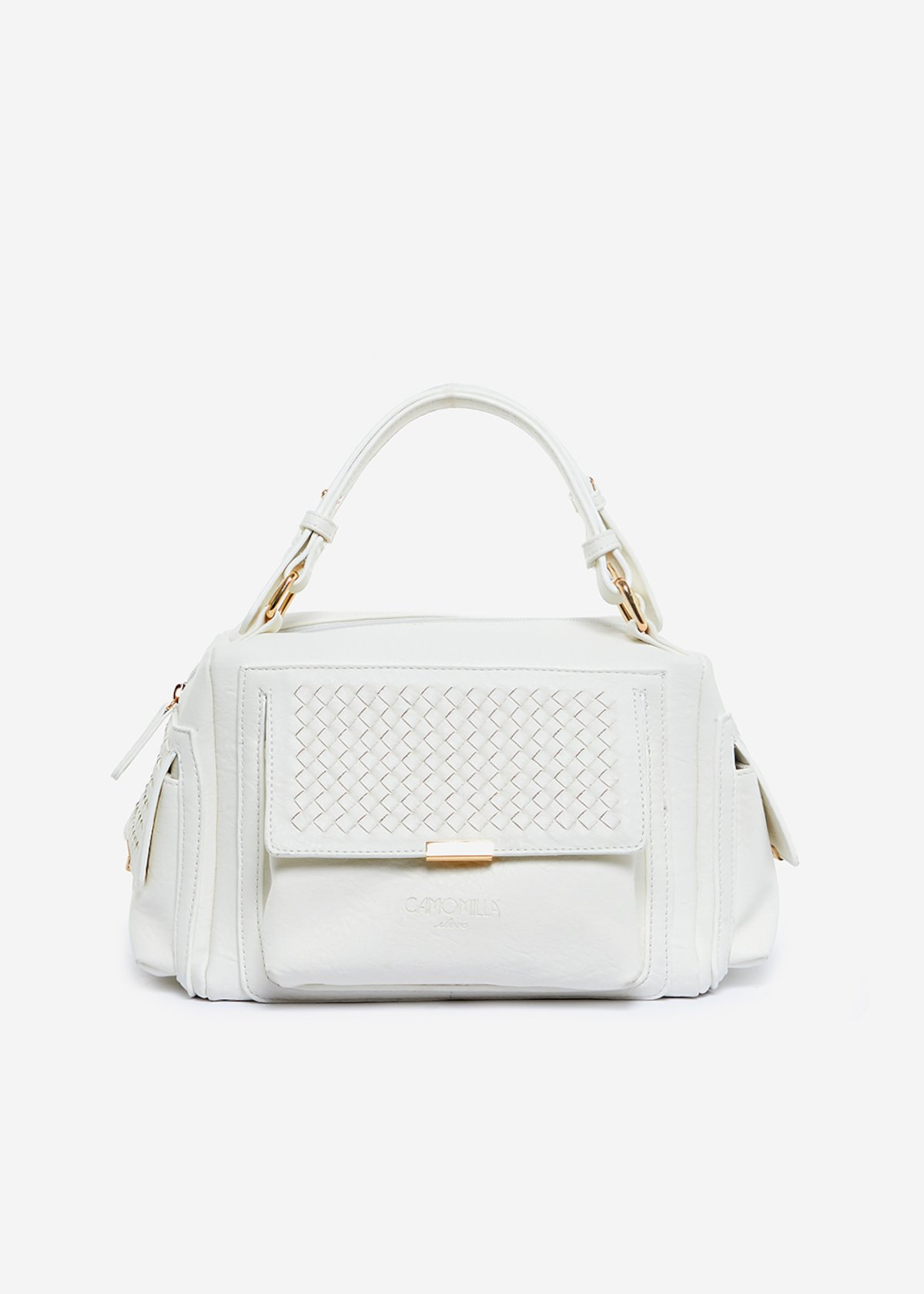 Bessie faux leather hand bag with interlacement detail