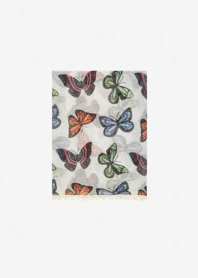 Silvie Scarf butterfly pattern