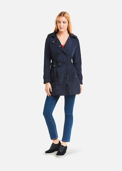 Tracy trench coat double breasted button closure - Medium Blue