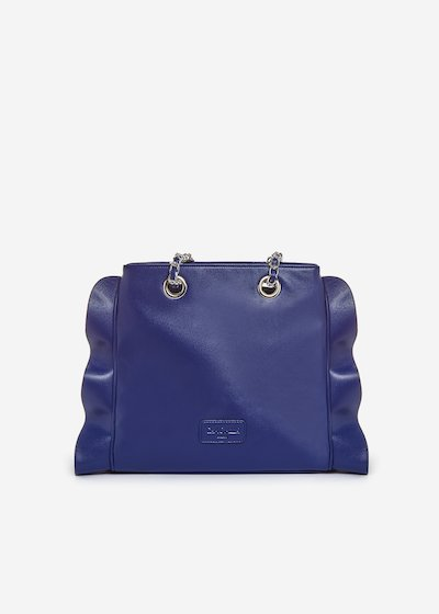 Besmira bag ruffle effect blue