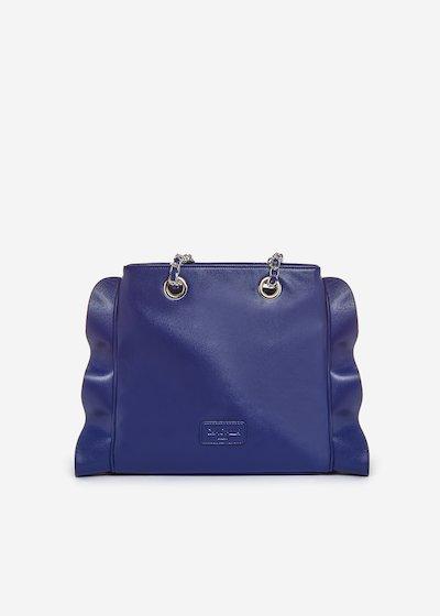 Besmira bag ruffle effect blue