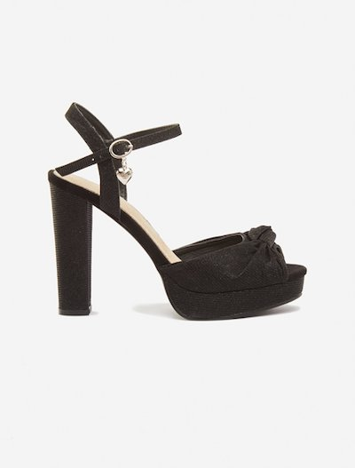 Snadia Sandals braided effect - Black