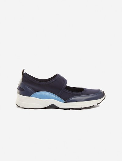 Sneaker dancer Selene in faux leather - Medium Blue Morning