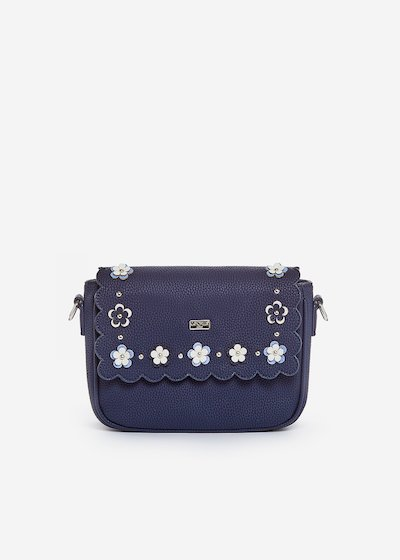 Small handbag Bluma with flap and flower detail