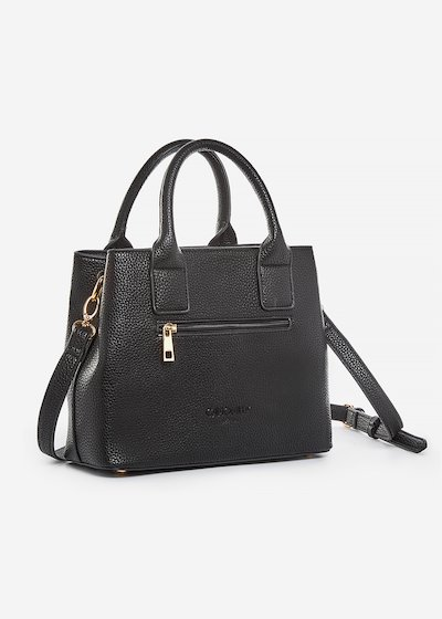 Blasia faux leather shopping bag with heart detail