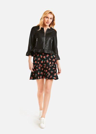 Glory Faux leather jacket - Black