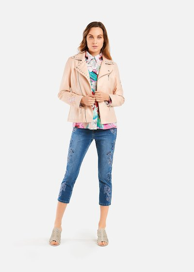Gennifer jacket with flowers and studs