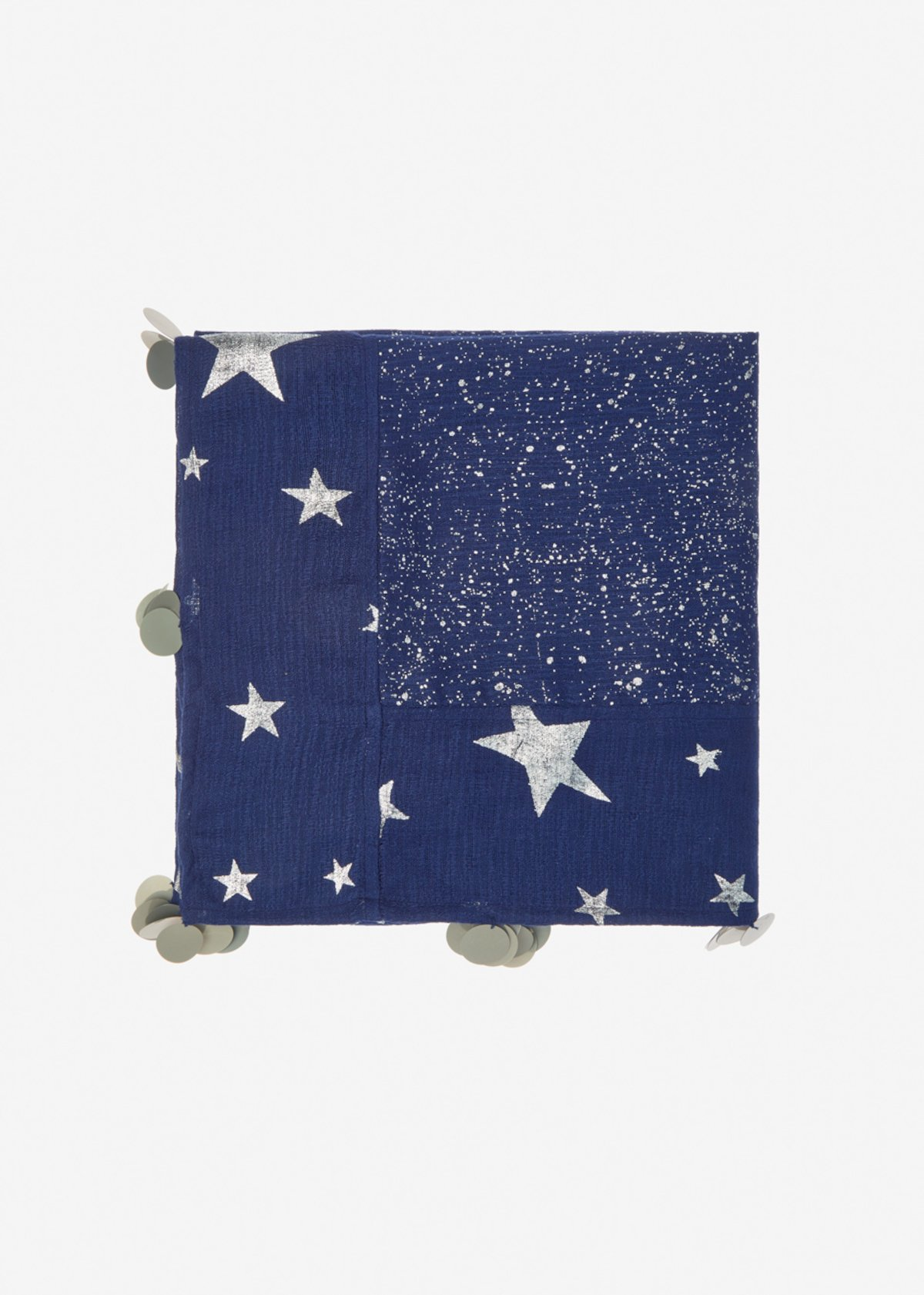 Sciarpa Sindy con fantasia stars - Medium Blue Silver Fantasia