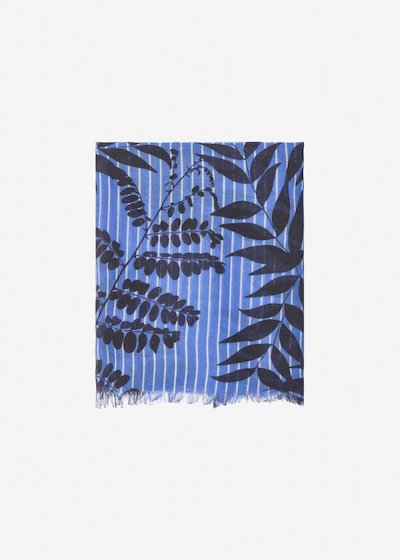 Shyla leaves pattern scarf - Divino Fantasia