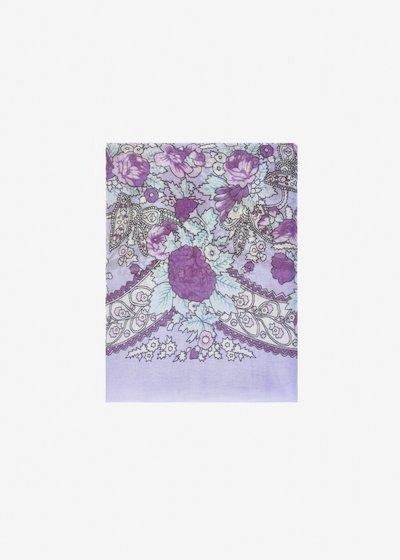 Sandra scarf with frayed edge