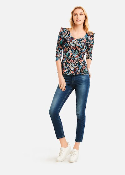 Sasha deep garden pattern t-shirt