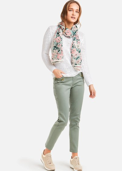 Pantaloni Primus in cotone satin
