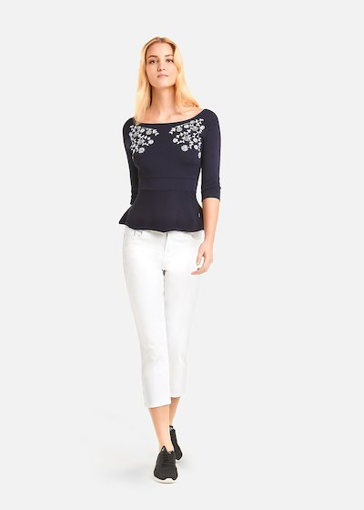 Monik sweater with floral embroidery