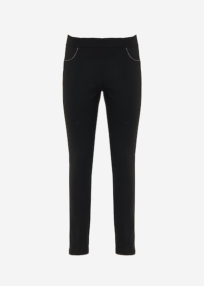 Paolo jeggings with lurex piping