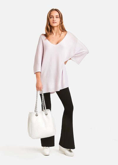 Paride crepe flared trousers