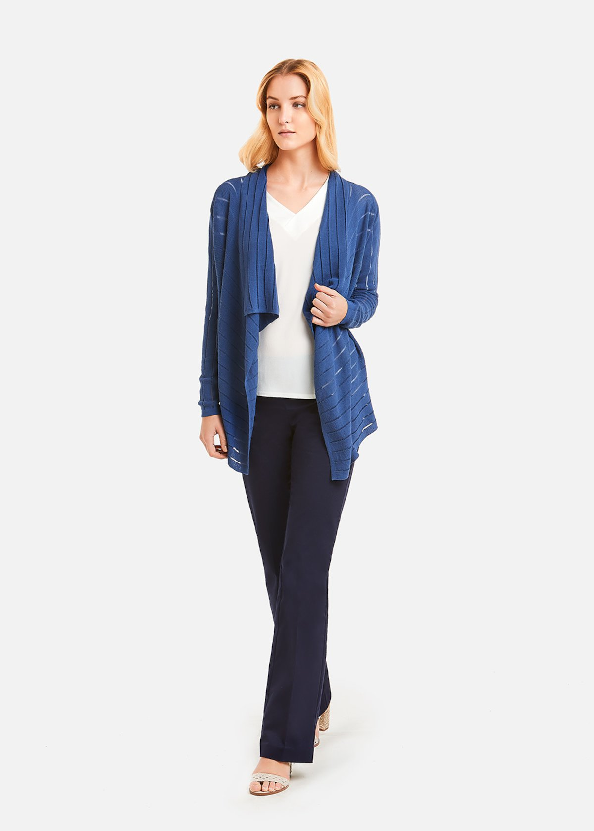 Cardigan Calien vertical stripe