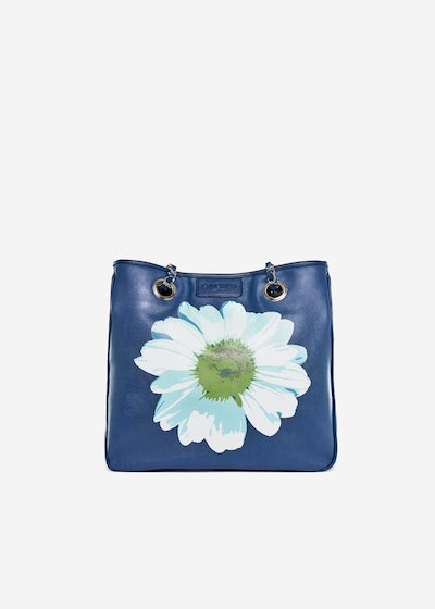 Bag Mini lady flower in ecopelle stampa Margherita