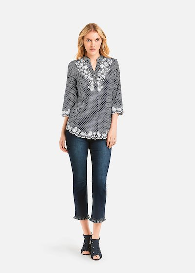Crissy Shirt geometric pattern