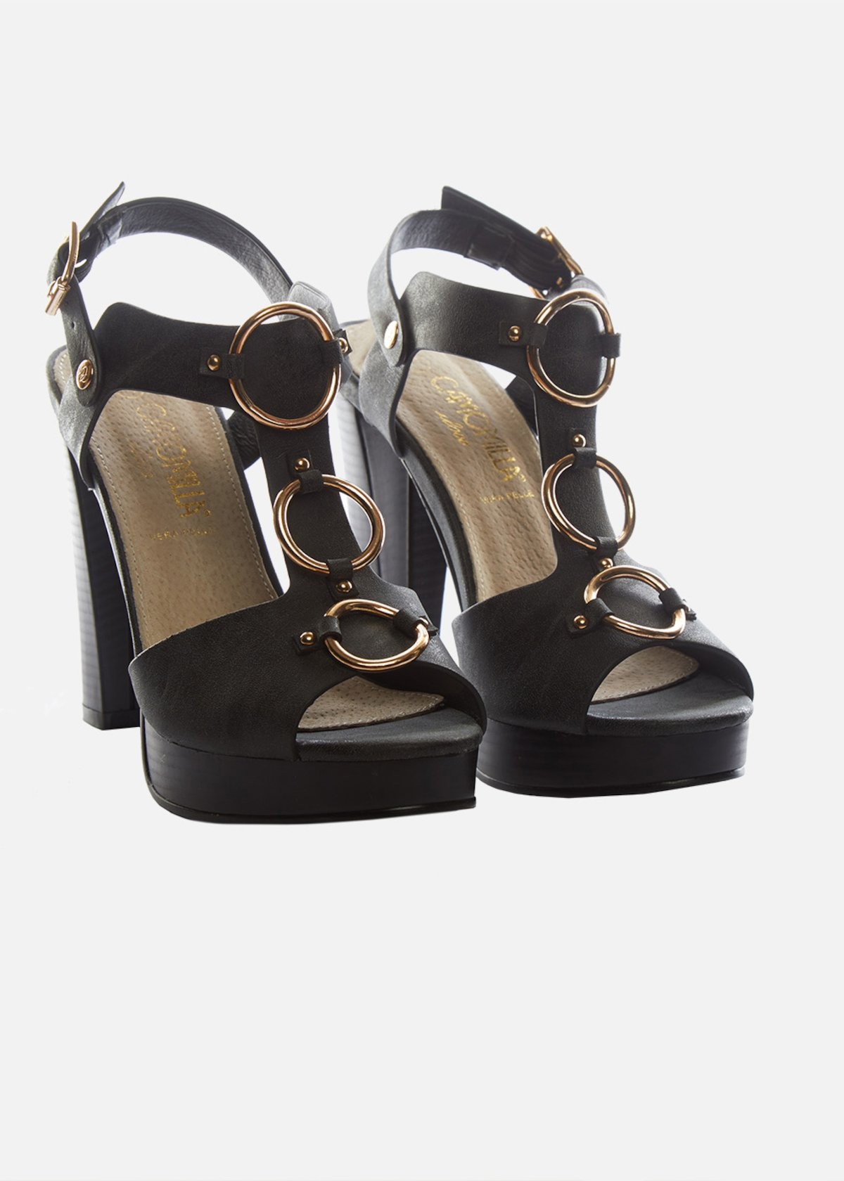 Simmini High Heel Sandals With Gold Rings Detail  384bc01149b
