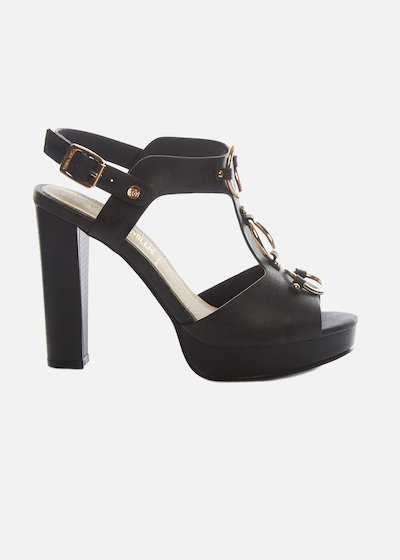 Simmini High heel sandals with gold rings detail - Black