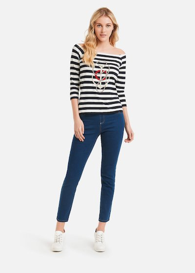Stefany bicolour stripes t-shirt