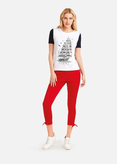 Sandry t-shirt mylar print