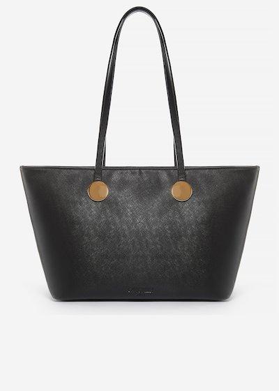 Shopping bag Brisha in ecopelle effetto saffiano con dettaglio cerchi metal