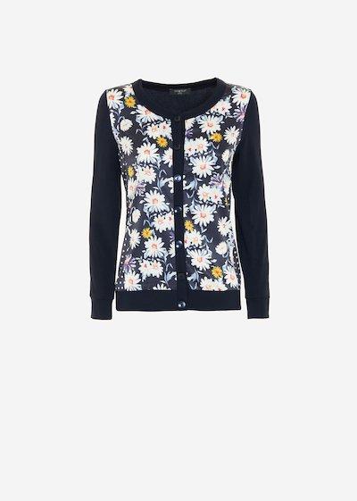 Caril cardigan daisies print