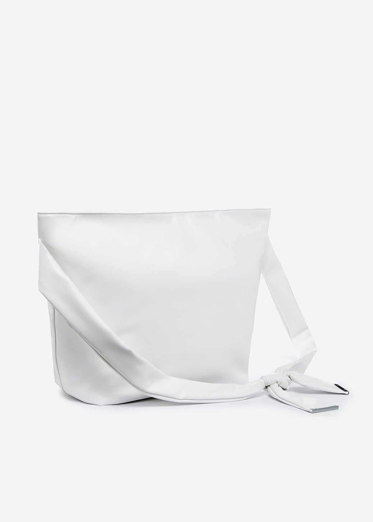Bag Brigitte in ecopelle con manico regolabile - White