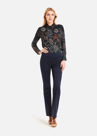 Carrie straight leg trousers - Medium Blue