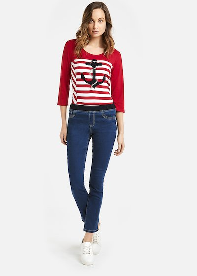 Saint t-shirt with embroidered anchor