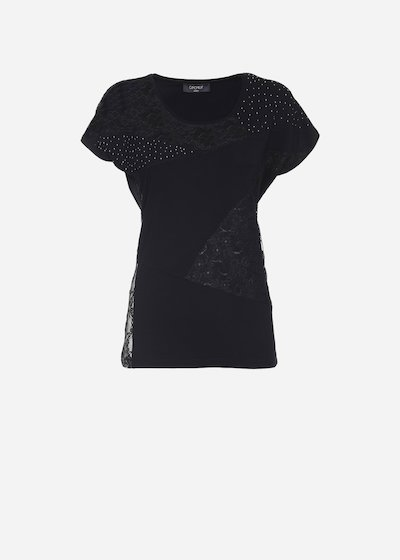 T-shirt Soleil con patch - Black