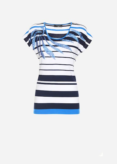 T-shirt Shaky effetto spirale sulle spalle