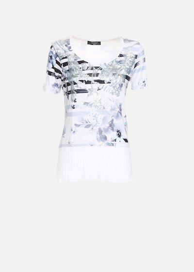 T-shirt Shakyra con plissè di georgette