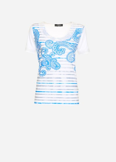 Shadow georgette and sequin t-shirt