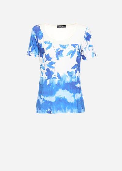 T-shirt Sagy con taglio asimmetrico - Formentera / White Fantasia