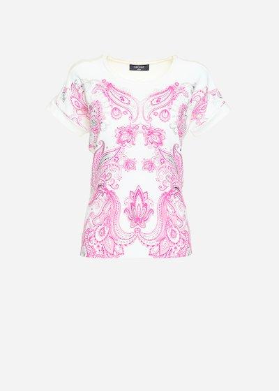 Sarik round neck and crepe mylar-effect t-shirt