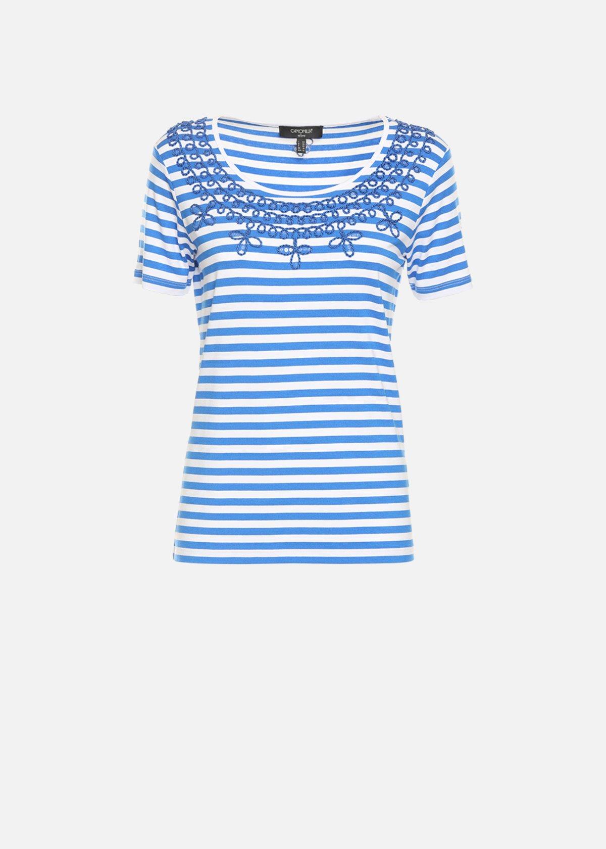 Stuart bicolor t-shirt with rhinestones