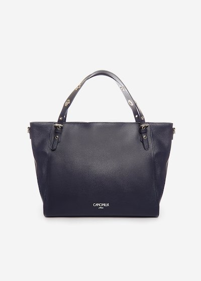Hobo Bag Bumpa con occhielli sui manici - Medium Blue