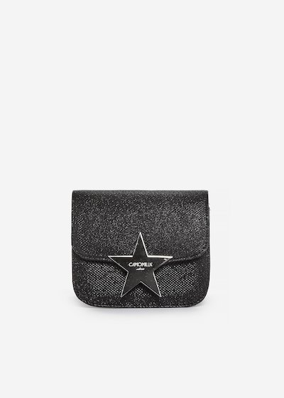 Micro clutch Berga lurex effect with star detail - Black