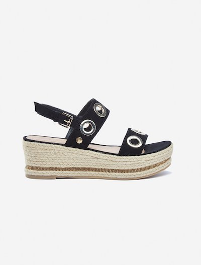 Smara faux-suede espadrilles sandals with wedge