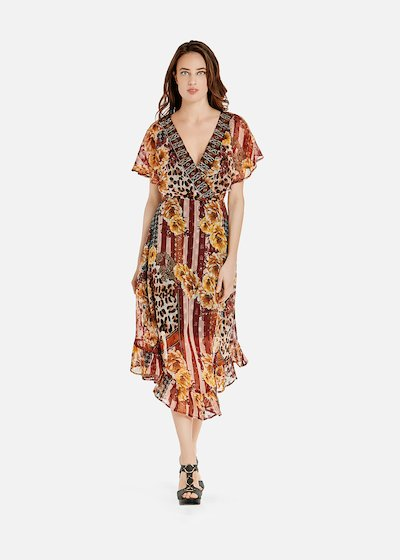 Ayan dress with ruffles at the bottom
