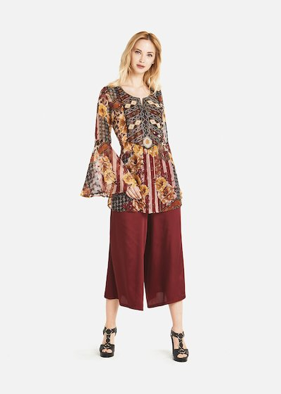 Cecilie blouse with sequins on the front