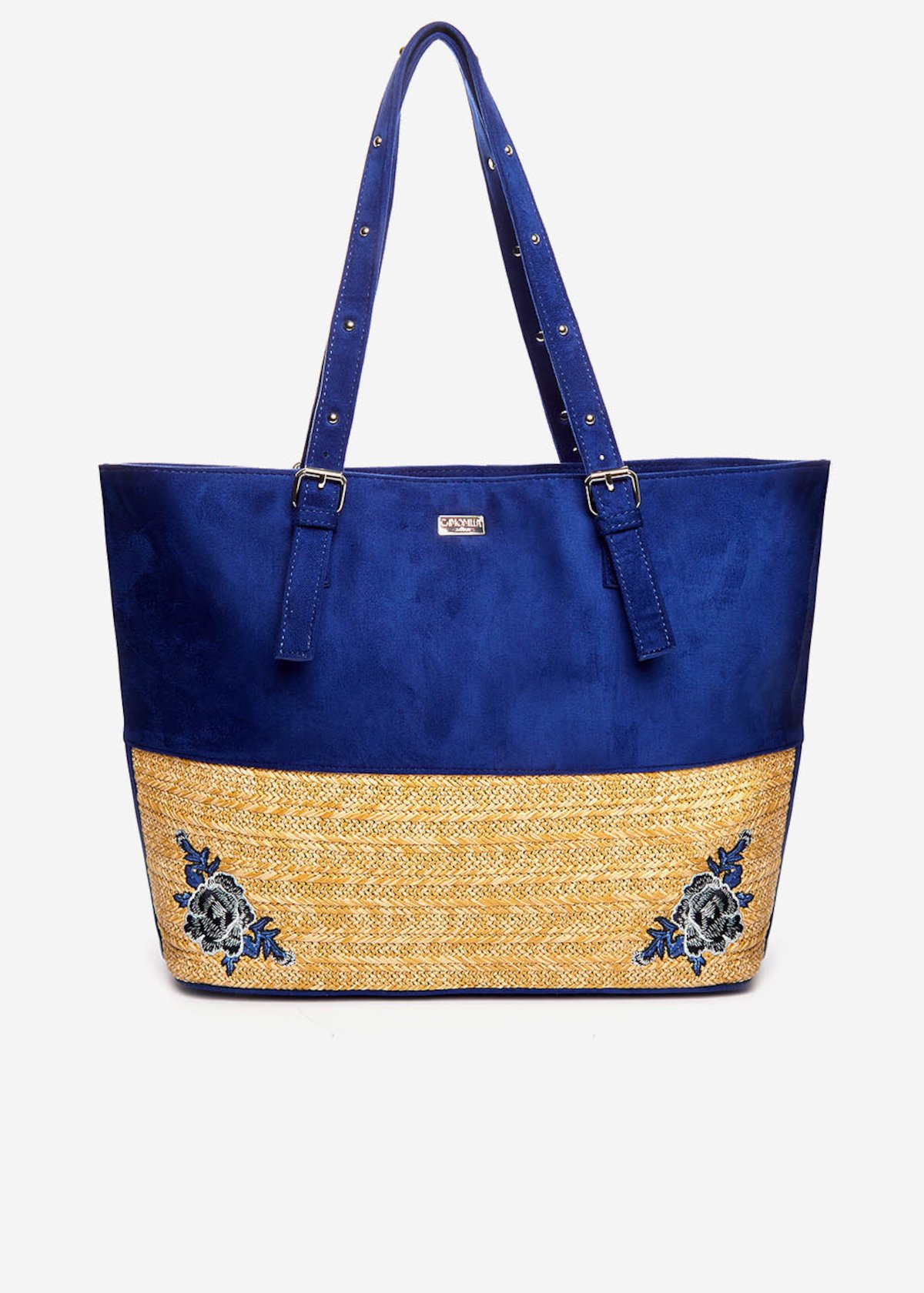 Byron shopping bag with embroidery detail - Formentera